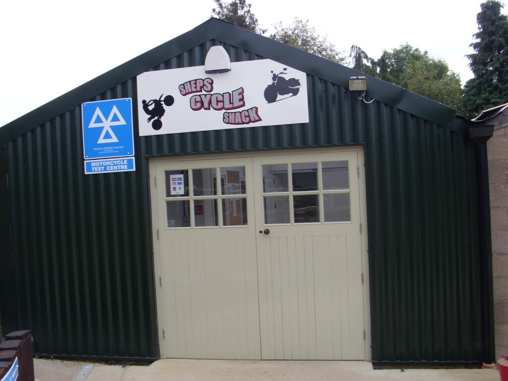 The outside of Sheps Cycle Shack
